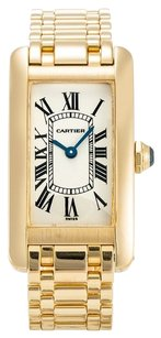 Cartier CARTIER TANK AMERICAINE W26015K2 YELLOW GOLD LADIES WATCH
