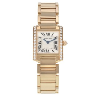 Cartier Cartier Tank Francaise We10456h 18k Rose Gold Diamonds Quartz Ladies Watch
