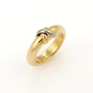 Cartier Cartier Tri-color 18k Gold 4.5mm X Band Ring - Eu