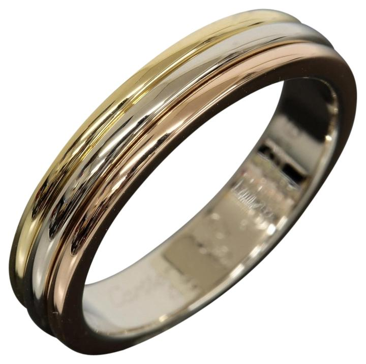 cartier three gold wedding band