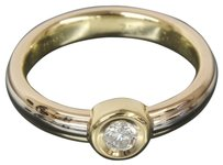 Cartier Cartier Trinity 18k Yellow/White/pink Gold Diamond Mono Stone Solitaire Ring US SIZE 6.75 W/Box
