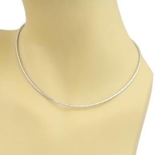 Cartier Cartier Tube Link 18k White Gold Choker Necklace