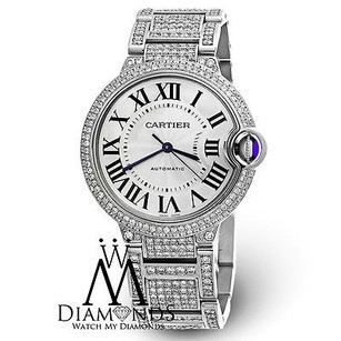 Cartier Diamond Cartier Ballon Bleu W6920046 Automatic Stainless Steel Mid-size Watch