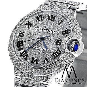 Cartier Diamond Cartier Ballon Bleu W6920071 Automatic Watch Diamond Pave Dial