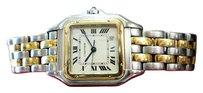 Cartier Ladies Cartier Panther Panthere 18k Gold Stainless Steel Roman Numeral Watch