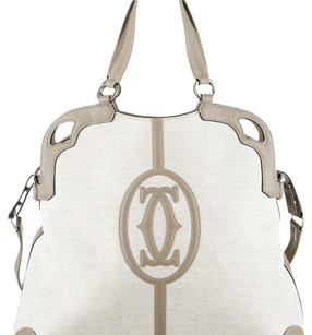 Cartier Satchel In White And Gray