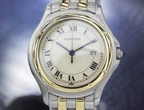 Cartier Mens Cartier Panthere Solid 18k Gold Stainless Steel C.2000 Rx5177