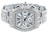 Cartier Mens Custom Cartier Roadser W62019x6 Chorograph Watch With Ct Diamond