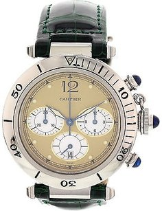 Cartier Mens Pasha De Cartier Chronograph Stainless Steel Watch
