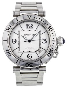 Cartier Pasha Seatimer 40mm W31077M7 Stainless Steel Watch CRTSP42