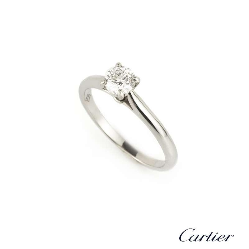 cartier platinum solitaire 1895 engagement ring tradesy