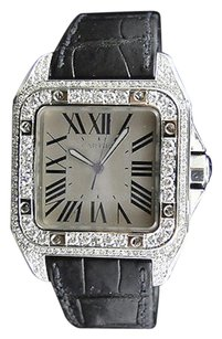 Cartier Pre-owned Mens Mm Cartier Santos W20073x8 Watch With 9.0ct Diamond