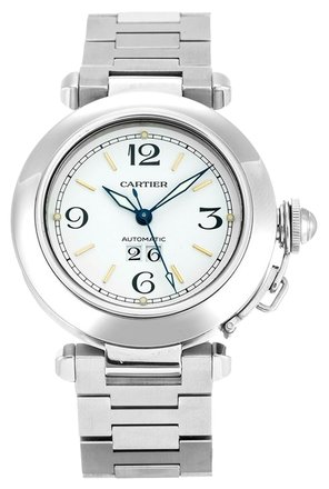 Preload https://item2.tradesy.com/images/cartier-silver-pasha-w31044m7-stainless-steel-midsize-watch-6195916-0-0.jpg?width=440&height=440