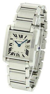 Cartier Stainless-Steel-Classic-Large-CARTIER-TANK-FRANCAISE-Swiss-Watch