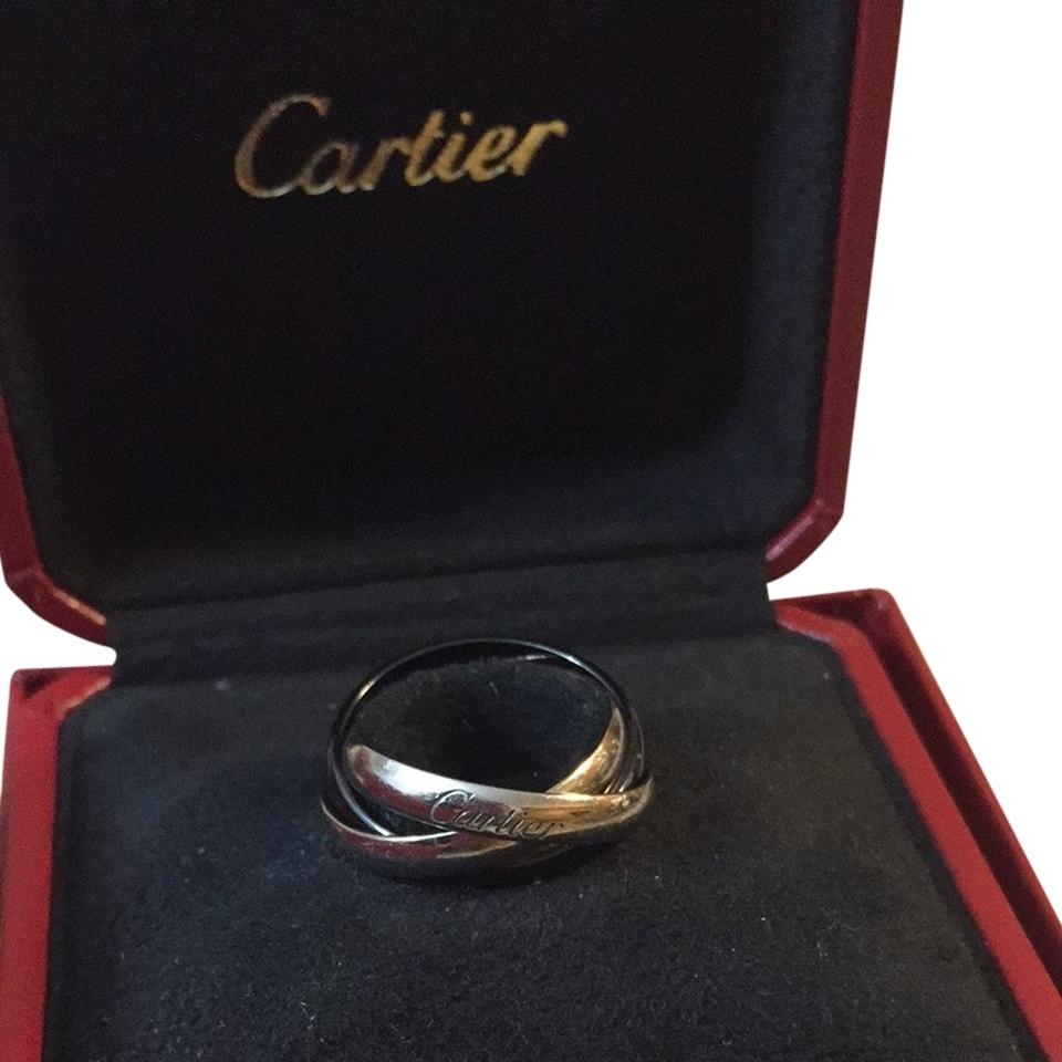 cartier trinity black and white ring love collection tradesy