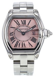 Cartier Women's Roadster W62016V3 Stainless Steel Quartz Watch with Pink Dial CRTSR92