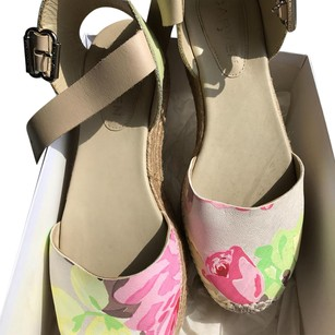 Carven nude & floral Flats