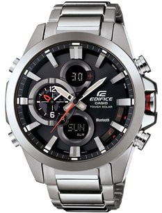 Casio Edifice Black Label Bluetooth Tough-Solar Dual Time ECB500D-1A