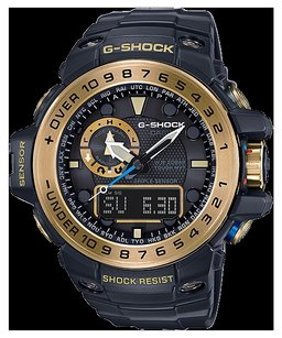 Casio G-Shock Analog-Digital Gulfmaster Black Bracelet Watch, GWN1000GB-1A