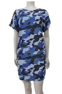Caslon short dress Navy blue Woven Shift Nordstrom Camo on Tradesy