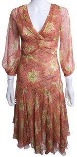 Catherine Malandrino Silk Designer Floral Dress