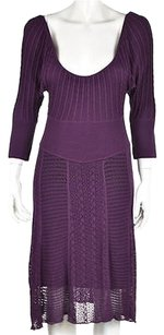 Catherine Malandrino short dress Purple Womens Sweater Knit Mid Calf on Tradesy