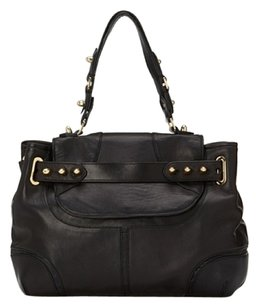 CC SKYE Studs Gold Satchel in Black