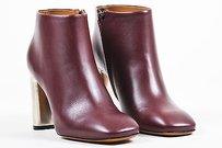Céline Celine Burgundy Leather Red Boots