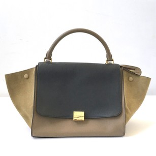 Céline Celine Graytaupe Trapeze Satchel in Multi-Color