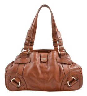 Cline Celine Caramel Cognac Satchel in Tan