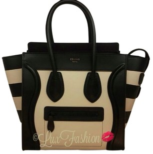 Céline Tote in Black White