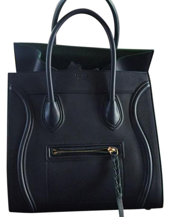 celine gray 1aqx  Cline Tote in Navy&Green
