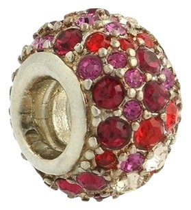 Chamilia Chamilia Bead Charm Sterling Silver Jeweled Kaleidoscope Red Swarovski Jc-6b