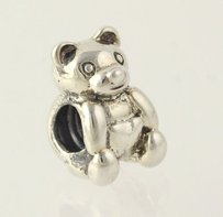 Chamilia Chamilia Retired Teddy Bear Bead Charm - Sterling Silver Womens Estate Gb-4