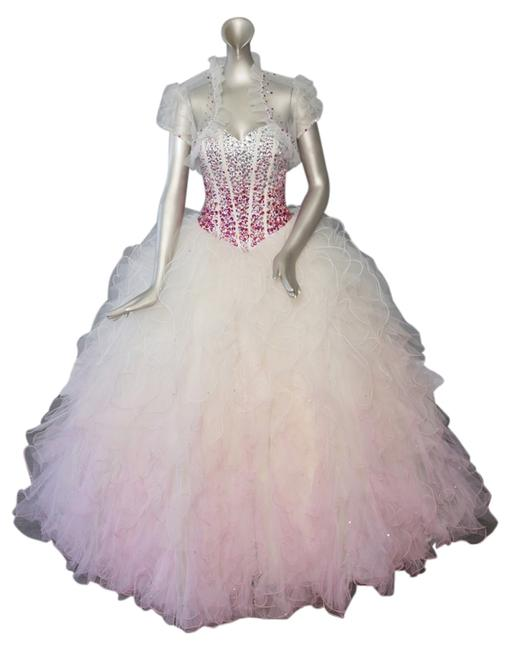 Preload https://item2.tradesy.com/images/champagne-pink-victoria-s-bridal-quinceanera-88078-long-formal-dress-size-12-l-10294201-0-1.jpg?width=400&height=650