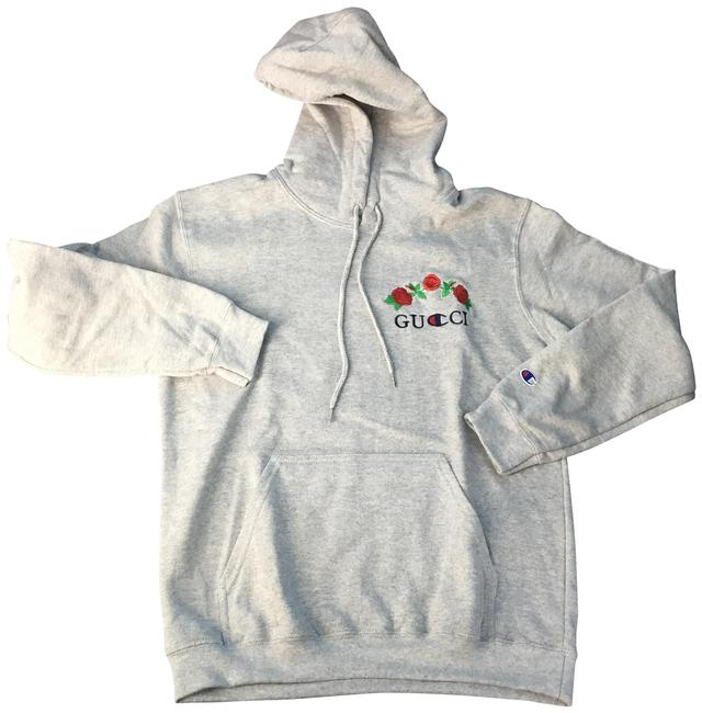 Preload https://item2.tradesy.com/images/champion-gray-reverse-weave-gucci-embroidered-sweatshirthoodie-size-16-xl-plus-0x-22699571-0-1.jpg?width=400&height=650
