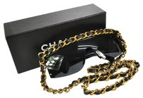 Chanel 100% ULTRA RARE! AUTH CHANEL CC CHAIN SUNGLASSES BLACK EYE WEAR VINTAGE A14883