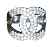 Chanel 18k Chanel Ring Size 5