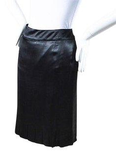 Chanel 05p Silk Satin Skirt Black
