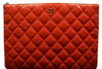 Chanel Accesory Quilted Pink O Case Clutch