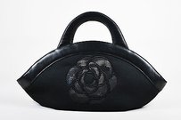 Chanel Canvas Leather Tote in Black