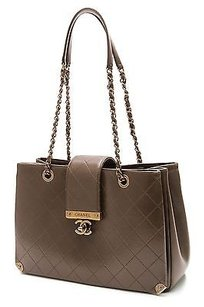 Chanel Quilted Tote in Olive green