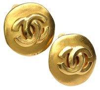 Chanel Auth CHANEL COCO Clip Earrings Metal Gold (BF075048)