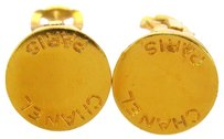 Chanel Auth CHANEL Vintage CC Logos Button Earrings Clip-On France Accessories LP09255