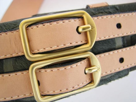Chanel Authentic 2001 Coco Chanel Pony Hair Leather Belt Waist Pouch