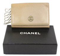Chanel Authentic CHANEL 6 Key Case Beige Leather France