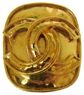 Chanel Authentic CHANEL Vintage CC Logos Brooch Pin Gold-Tone Corsage France LP14645