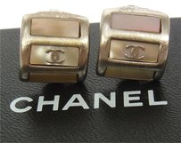 Chanel AUTHENTIC CHANEL VINTAGE CC LOGOS EARRINGS CLIP-ON 99A FRANCE ACCESSORIES M07684