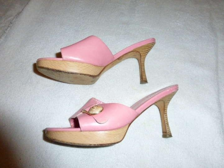 Chanel Size 37 5 Baby Pink Sandals on Sale f