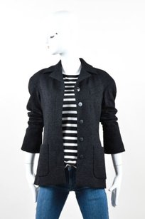 Chanel Wool Silk Black Jacket